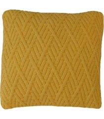 capa almofada tricot 40x40cm / 45x45cm c/zãper sofa trico cod 1025 amarelo - amarelo - feminino - dafiti