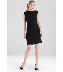natori bi-stretch sheath dress, women's, black, size 4 natori