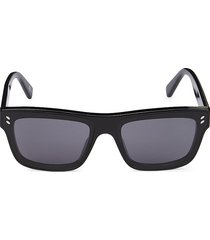 stella mccartney women's 64mm core square sunglasses - black