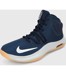 tenis basketball azul-plateado nike air versitile iv,