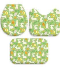 jogo tapetes love decor para banheiro cute easter green ãšnico - verde - dafiti