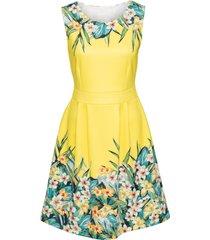 abito a fiori (giallo) - bodyflirt boutique