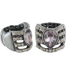 anel armazem rr bijoux gota com cristais feminino - feminino