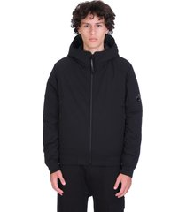 c.p. company casual jacket in black polyester