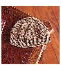 100% alpaca hat, 'cajamarca brown' (peru)