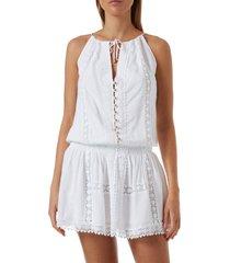 women's melissa odabash chelsea cover-up dress, size medium - white