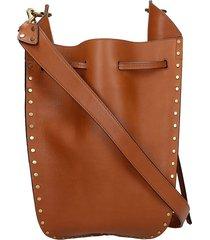 isabel marant taj shoulder bag in leather color leather