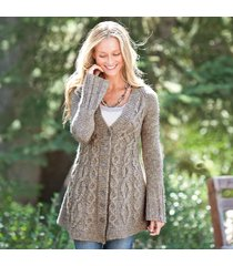 branching cables cardigan sweater