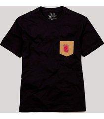 camiseta bolso coração anatômico reserva preto