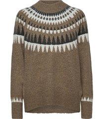fqberla-pu-high stickad tröja beige free/quent