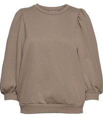 nankitagz sweatshirt t-shirts & tops long-sleeved beige gestuz