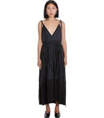 jil sander namie af dress in black viscose