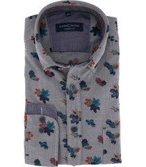 overhemd casa moda casual fit bladeren