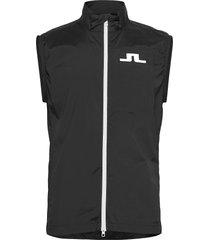 ash light packable golf vest vest zwart j. lindeberg golf