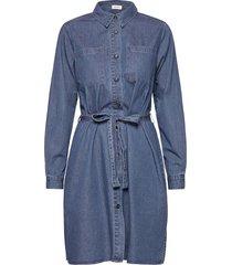 fever dress kort klänning blå modström