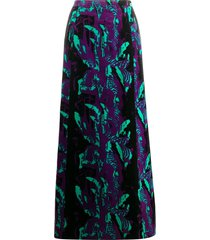 a.n.g.e.l.o. vintage cult 1960s abstract print textured maxi skirt -