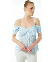 blouse jimmy sanders 19sshtw53026babyblue blouse
