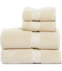 nordstrom 4-piece hydrocotton bath towel & hand towel set, size one size - beige