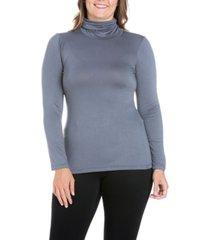 women's plus size classic turtleneck top