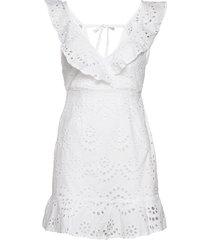 english lace frill dress kort klänning vit ivyrevel