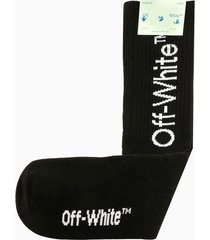 off-white diag mid length socks omra001r21kni003