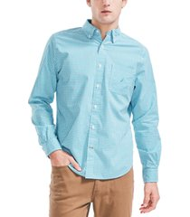 nautica men's classic fit gingham shirt