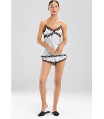 lolita lace cami pajamas, women's, grey, 100% silk, size s, josie natori