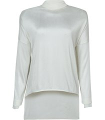 blusa rosa chá tricot jam feminina (off white, m)
