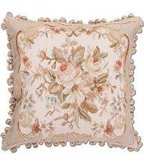 almofada aubusson silk flores 2 - 50 x 50