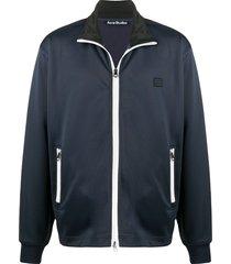 acne studios zip-up jacket - blue