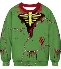 bloodstain stitching printed sweatshirt