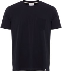 norse projects johannes pocket t-shirt - dark navy n01-0399 7004