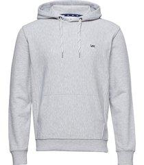 basic hoodie hoodie grå lee jeans
