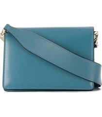 valextra swing shoulder bag - blue