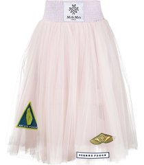 mr & mrs italy sheer pleated skirt - pink
