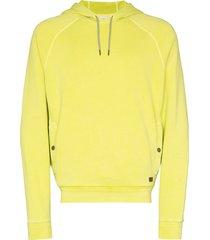 z zegna raglan sleeve cotton hoodie - yellow
