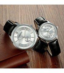 2pcs, reloj de cuarzo de correa de reloj de pareja de moda
