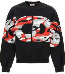 gcds camouflage logo sweatshirt