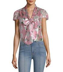 jeannie bow-collar blouse