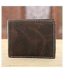 leather wallet, 'espresso fantasy' (india)