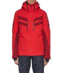 tonal panel hood ski jacket