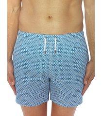 bertigo men's graphic blue dot swim shorts - blue - size xxl