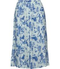 garden skirt knälång kjol blå makia