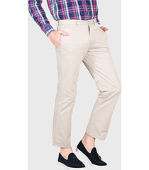 pantalón chino liso beige arrow