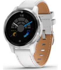 garmin unisex vivoactive 4 legacy saga white silicone strap touchscreen smart watch 32mm