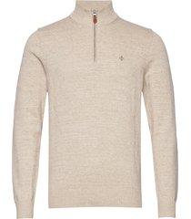 randal half zip knitwear half zip jumpers beige morris