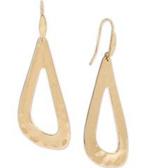 robert lee morris soho gold-tone sculptural open drop earrings