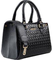 bolsa mini couro quadrado - feminino