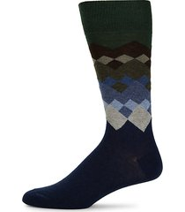 diamond mid-calf socks
