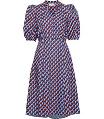 linh long dress korte jurk multi/patroon storm & marie